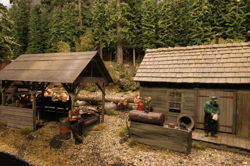 Woodcutters shack, a Sierra West kit that has mountains of detail