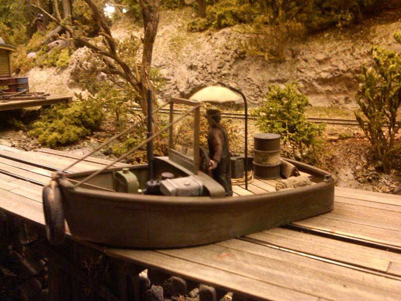 Stan's swamp boat for the log pond