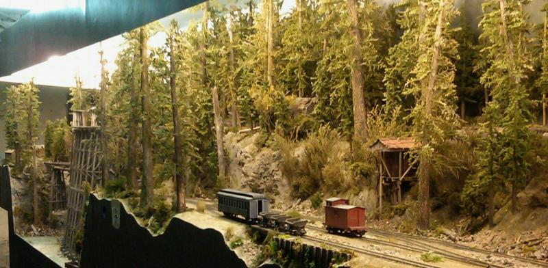 Finally some scale of trains to the scenery