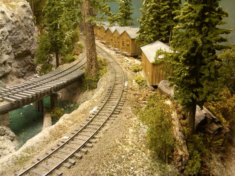 Looking down along the tracks, still need walkway and details