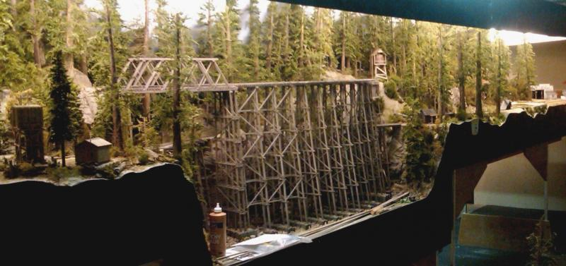 Starting to add stringers to the trestle