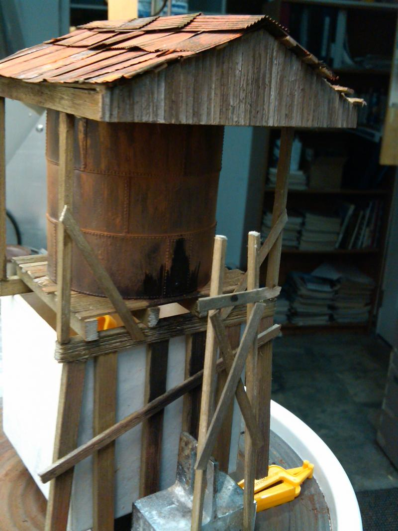 Scratchbuilt Oil tank, based loosely on Westside's Crumbine facility