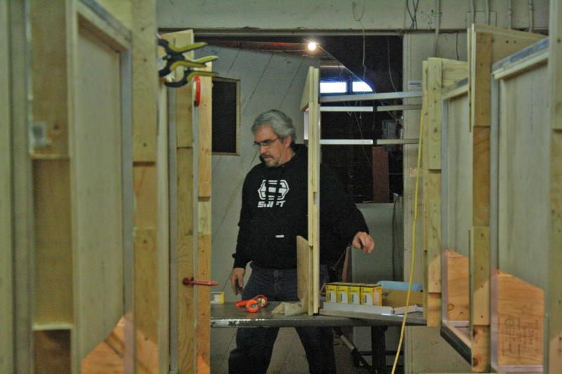 Yours Truly Working on Corner Modules